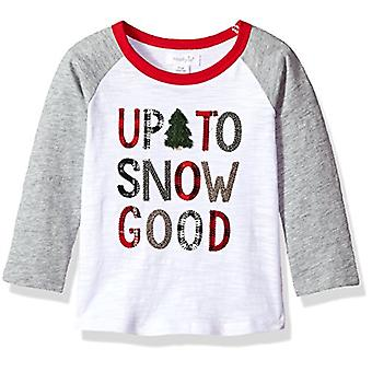 Mud Pie Baby Boys' Toddler Natale Long Sleeve T-Shirt, neve buona, S...