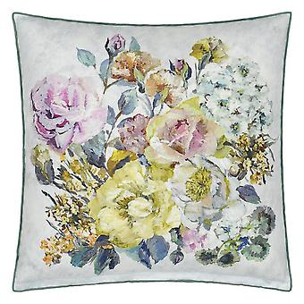 Designers Guild Grandiflora Rose Dusk Floral Cushion