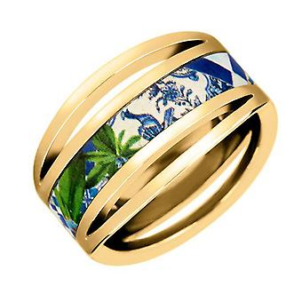 Ring Christian Lacroix jewelry XF21015LD - Ring metal Dor and Email woman