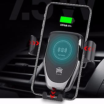 10W qi wireless charger gravity air vent dashboard car phone holder car mount for 4.0-6.5 inch smart phone
