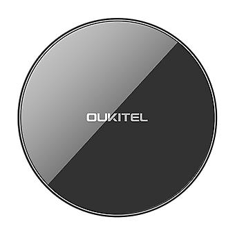 Oukitel s1 10w ultra tynn dobbel coil qi trådløs lader rask ladepute for iphone x 8/8plus samsung s8