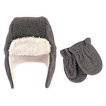 Hudson Baby Baby Girls' Fleece Trapper Hat and Mitten Set