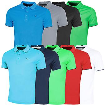 Callaway Golf Mens Contrast Tipped Opti-Dri Golf Polo Shirt