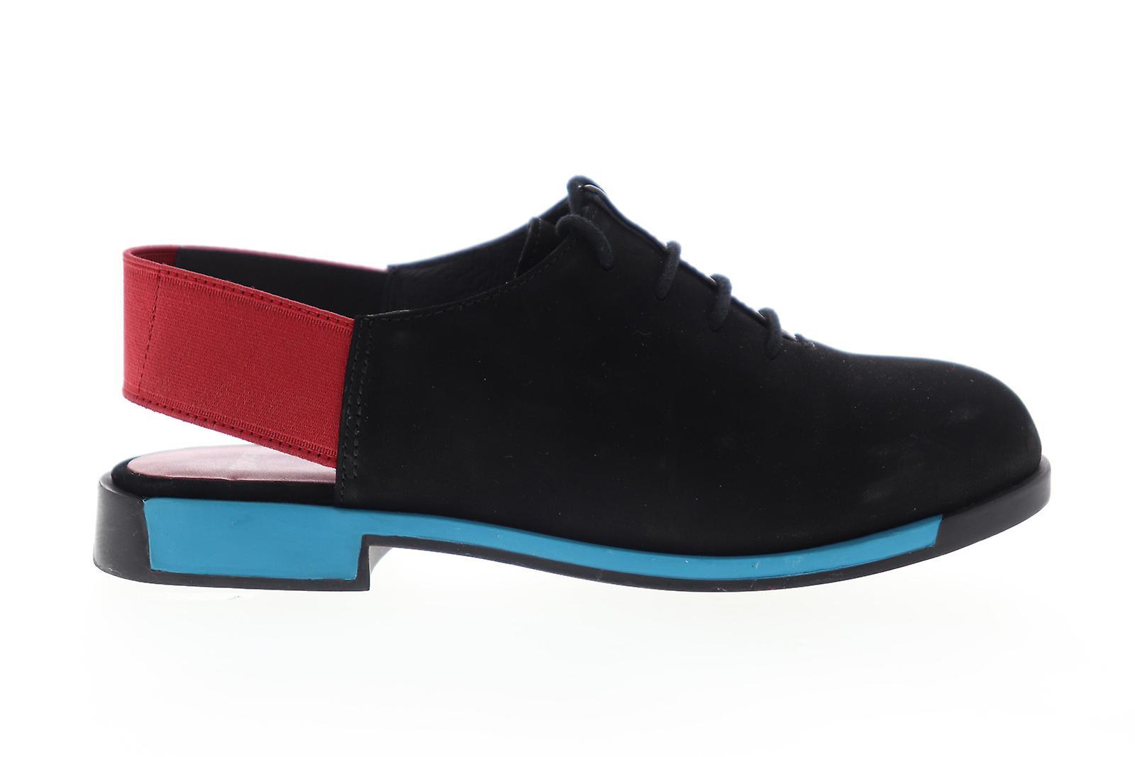 Camper Bowie Femmes Noir Nubuck Leather Flats Oxfords Chaussures anbG8u
