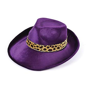 Bristol Novelty Unisex Adults Velvet Fedora Costume Hat