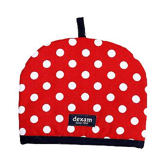 Dexam Polka 2 Cup Tea Cosy, Red