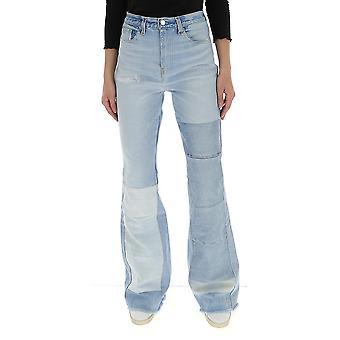 Amiri Y0w01405rdmultiindigo Women's Light Blue Cotton Jeans
