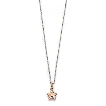 Little Star Harper Silver & Rose Gold Star Children's Necklace