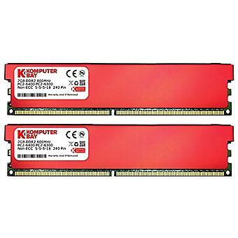 Komputerbay 4 GB (2 x 2 GB) 240 pin 800 mhz pc2-6400/pc2-6300 DDR2 DIMM Desktop RAM