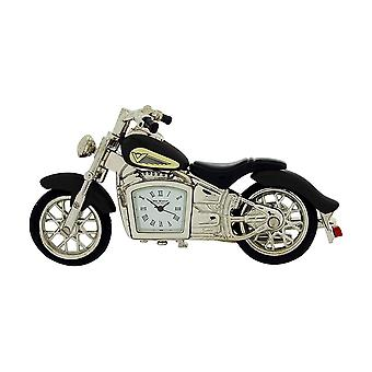 Miniature Black Indian Style Motorbike Novelty Collectors Clock -  9497B
