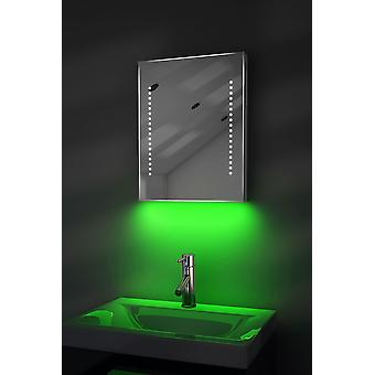 Espejo ultra-delgado con UnderLighting, Bluetooth, Demist&Sensor k36aud
