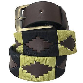 carlos diaz unisex  brown leather  polo belt cdupb118