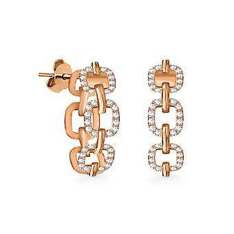 Cercei Diamond Chain 18K Aur și Diamante