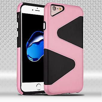 Asmyna Astronoot Protector Case for Apple iPhone 8/7 - Pink S Shape/Black