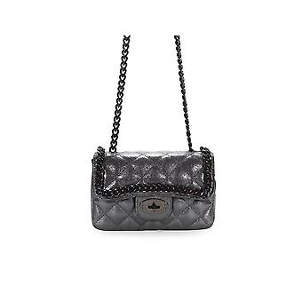 MARC ELLIS KEISHA GUNMETAL CROSSBODY BAG
