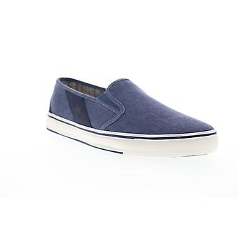 Tommy Bahama Pacific Ridge  Mens Blue Canvas Slip On Sneakers Shoes
