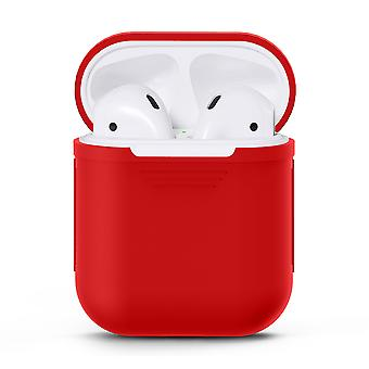 Silikon-Hülle Fall für Apple Airpods/Airpods 2-Red