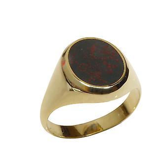 Golden heliotrope cachet ring