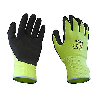 Scan Yellow Foam Latex Coated Glove 13g - XL SCAGLOLATYXL