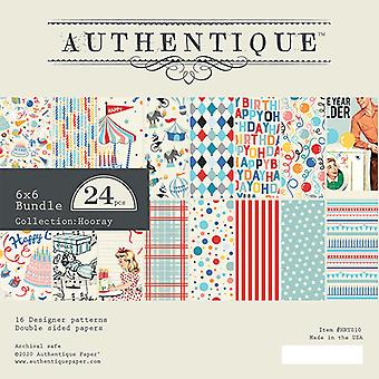Authentique Hooray 6x6 Inch Paper Pad