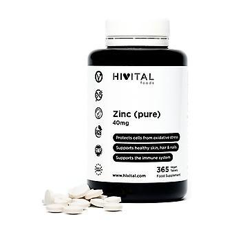 Pure Zinc 40 mg 365 tablets of 600mg