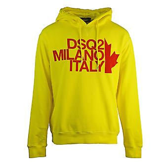 Dsquared2 Cool Fit Milano Yellow Hoodie