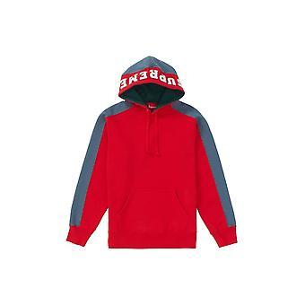 Supreme Paneled Hooded Sweatshirt Red - Clothing