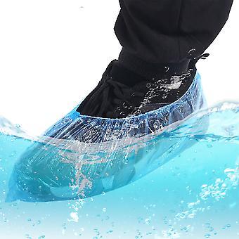 Disposable Plastic Shoes Cover Case Anti Droplet Dust Rain Shoe Covers Waterproof