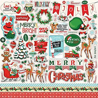 Carta Bella Santa's Workshop 12x12 Inch Element Sticker