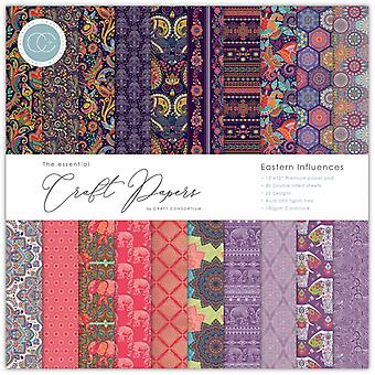 Craft Consortium Essential Craft Papers 12x12 Inch Paper Pad Eastern Influences