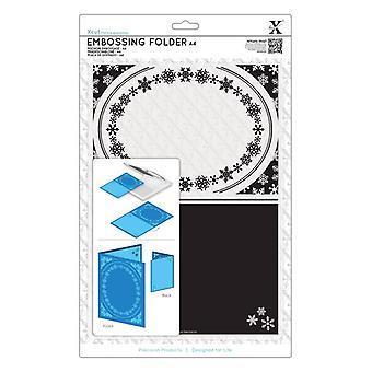 Xcut A4 Embossing Folder - Snowflake Frame