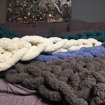 Fleece Throw Deken Super zachte en donzige deken dikke draad gebreide dikke slaapbank deken depsprei