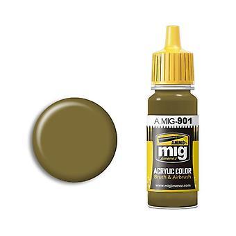 Ammo by Mig Acrylic Paint - A.MIG-0901 Dunkelgelb Dark Base (17ml)