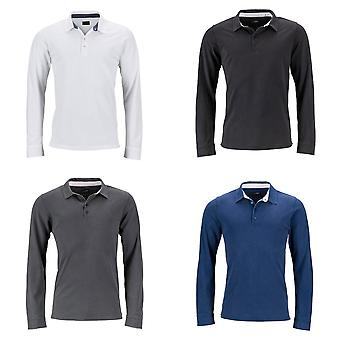 James and Nicholson Mens manches longues Polo