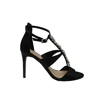 Jewel Badgley Mischka Women's MICA Sandal, black satin, M070 M US