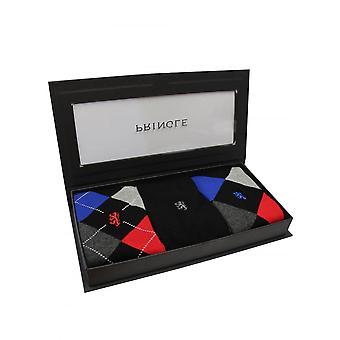 Pringle Of Scotland Pringle Luxury Giftbox Argyle 3 Pack Bamboo Socks Noir
