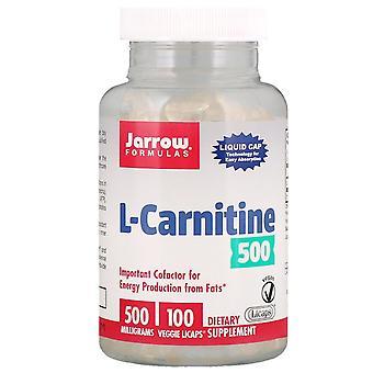 Jarrow Formulas, L-Carnitine 500, 500 mg, 100 Veggie Licaps