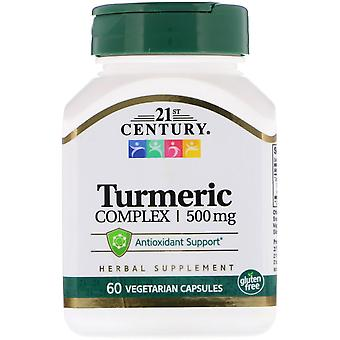 Siglo XXI, Complejo de cúrcuma, 500 mg, 60 Cápsulas vegetarianas