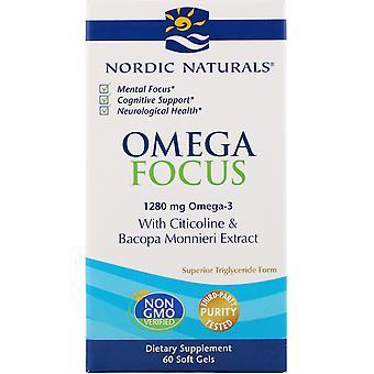 Nordiska Naturals, Omega Focus, 1,280 mg, 60 Mjuka Geler