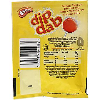 Barratt Dip Dab Strawberry Lolly, 50 x 23g