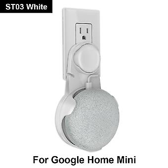 Outlet Wall Mount Holder Cord Bracket For Google Home Mini Voice Assistant Plug In Kitchen Bedroom Audio Stand