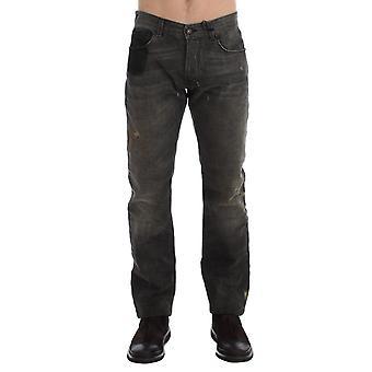 Gray Wash Regular Cotton Denim Jeans SIG17954-1