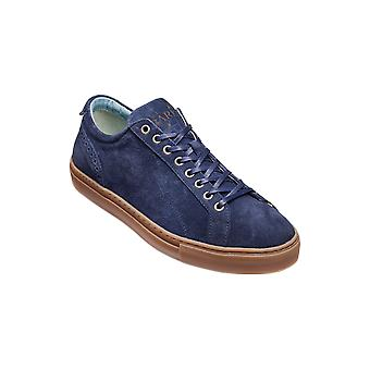 Barker Axel - Blue Suede  | Mens Handmade Leather Sneakers | Barker Shoes