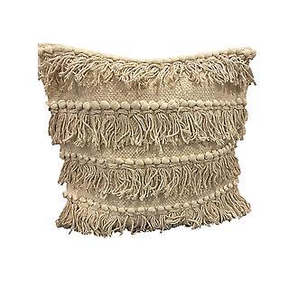 Spura Accueil Confortable Dancer Style Beige Moroccan Pillows 18x18