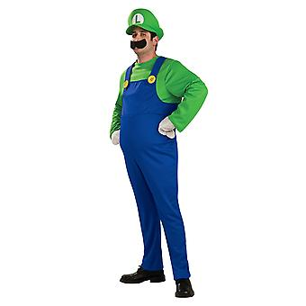 Luigi Deluxe Super Mario Bros Video spillet rørlegger 1980-tallet tegneserie Men drakt