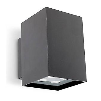 Outdoor LED Up & Down Wall Light Urban Grey 10cm 1296lm 3000K IP65