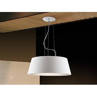 4 Licht Deckenanhänger zylindrisch weiß, E27