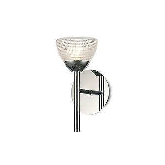 Inspiriert Deco - Avalon - 1 leichte G9 Wandleuchte, poliert Chrom mit klaren Prismatik Glas