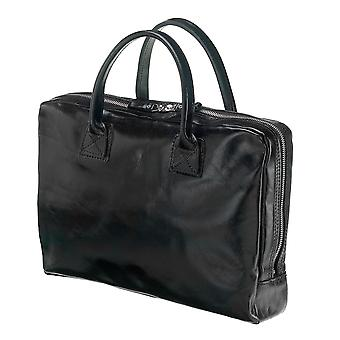 Leather Laptop Bag - The Windsor - Black