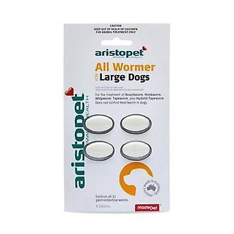 Allwormer tabbladen voor Lge honden 20kg 4 tabs